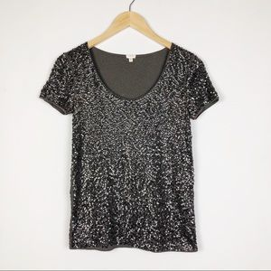J. Crew Sequin Short Sleeve Tshirt